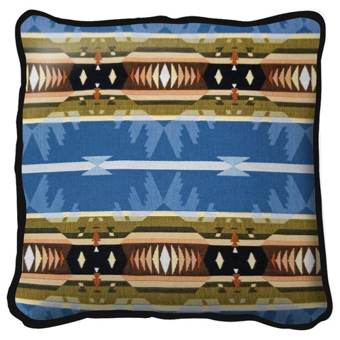 Southwest Cimarron Blue Tapestry Pillow