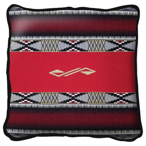 Southwest Concho Springs Red Tapestry Pillow