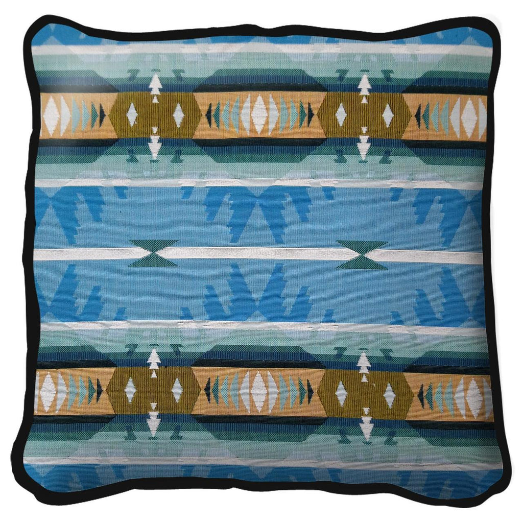 Southwest Cimarron Turquoise Tapestry Pillow