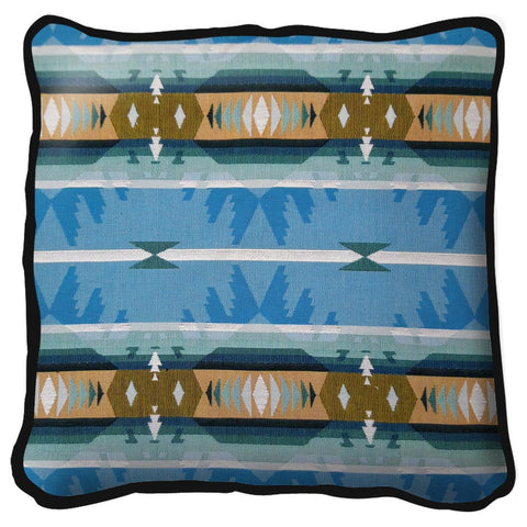 Southwest Cimarron Turquoise Tapestry Pillow Cover