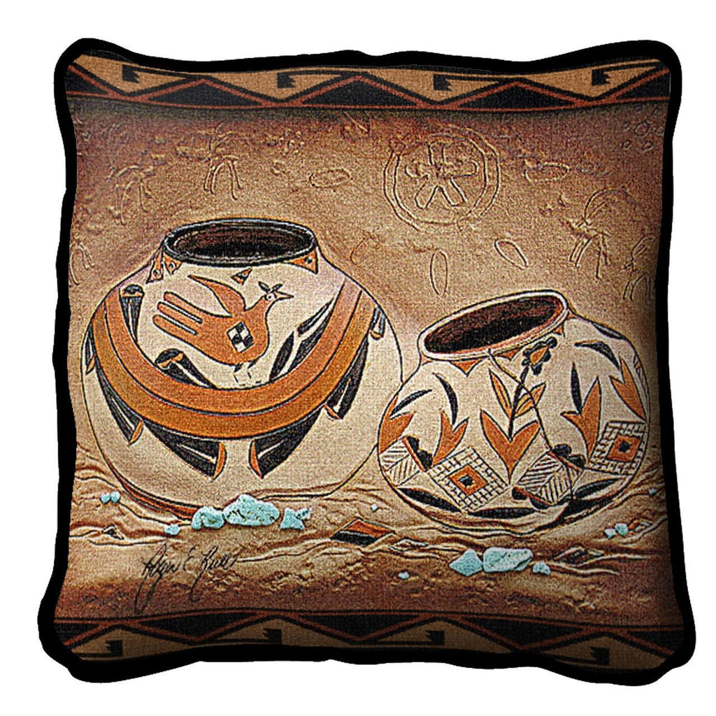 Southwest Zuni Pottery Tapestry Pillow Cover