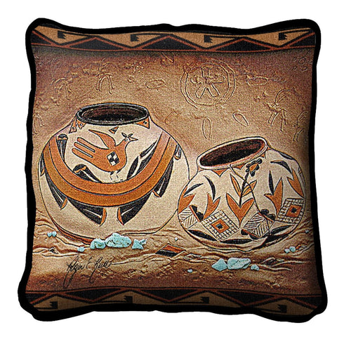 Southwest Zuni Pottery Tapestry Pillow