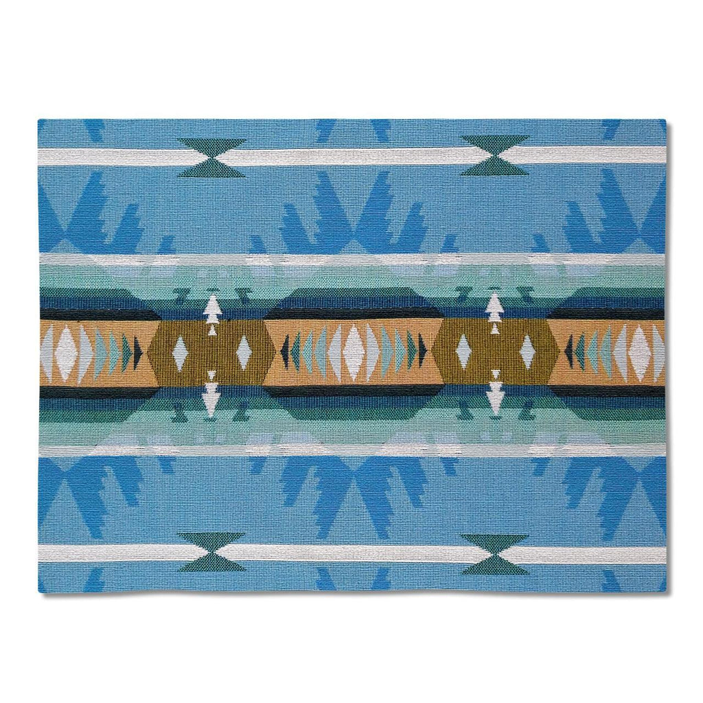 Southwest Cimarron Turquoise Tapestry Placemats - Set of 4