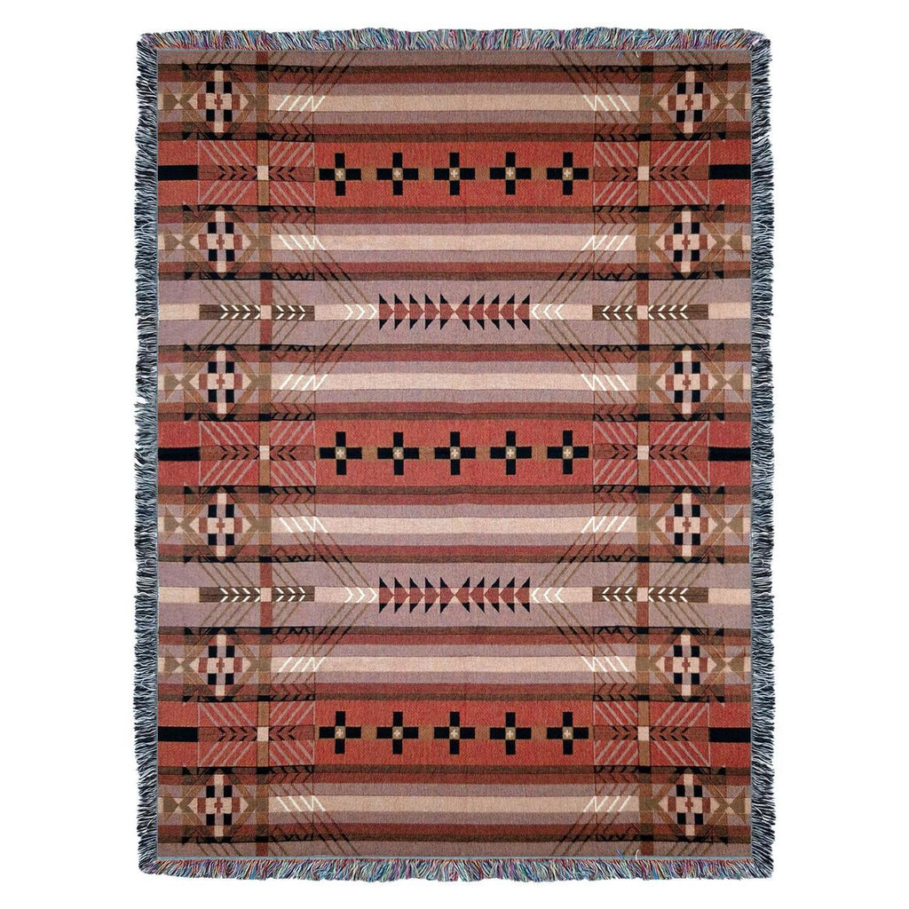 Southwest Antelope Ridge Woven Cotton Throw Blanket