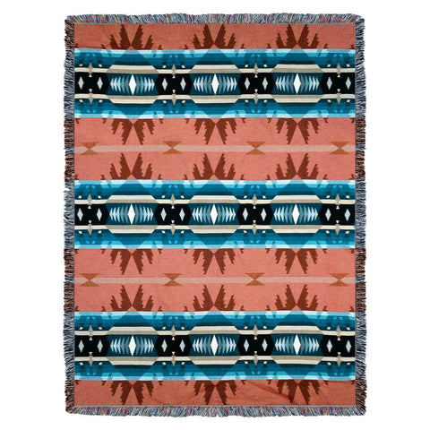 Southwest Cimarron Agate Woven Cotton Throw Blanket