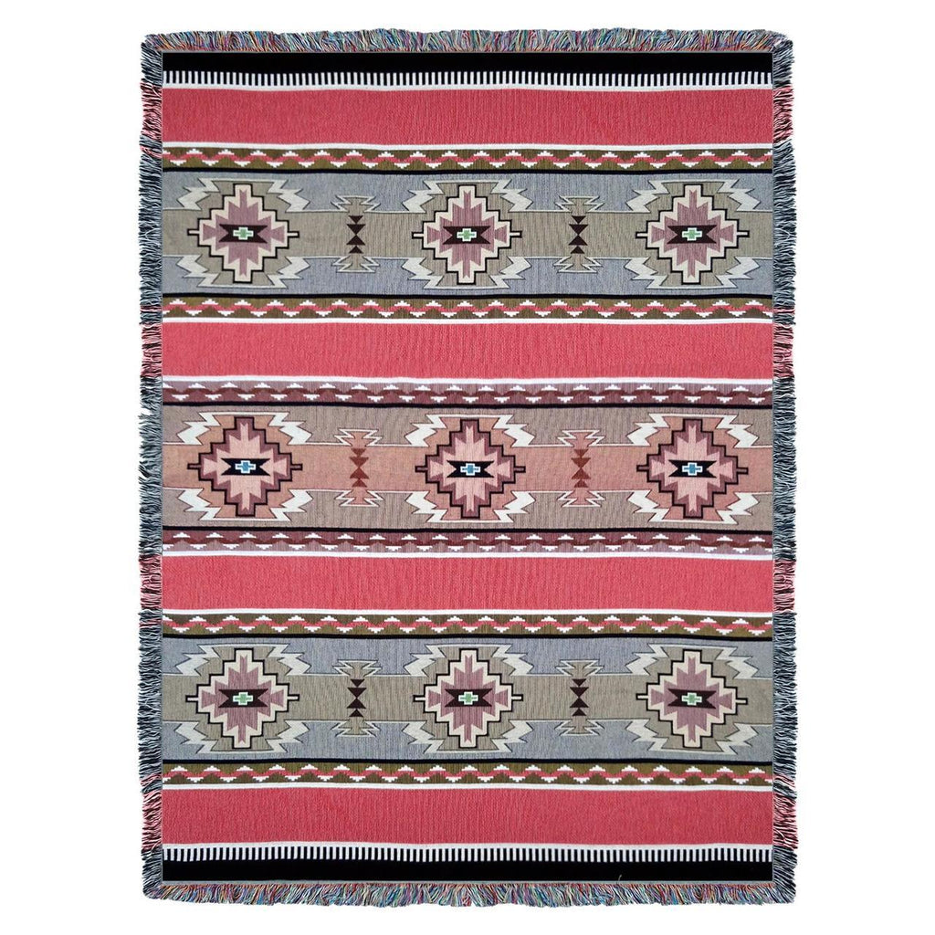 Southwest Rimrock Dusk Woven Cotton Throw Blanket