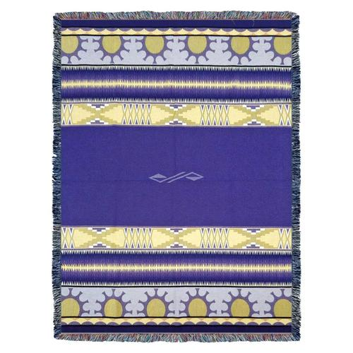 Southwest Concho Springs Plum Woven Cotton Throw Blanket