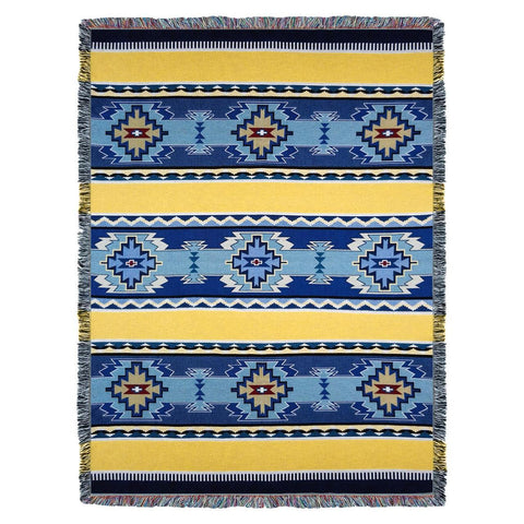 Southwest Rimrock Sun Woven Cotton Throw Blanket