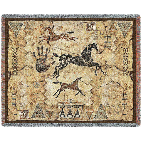 Tlalocs Tribe Woven Throw Blanket -