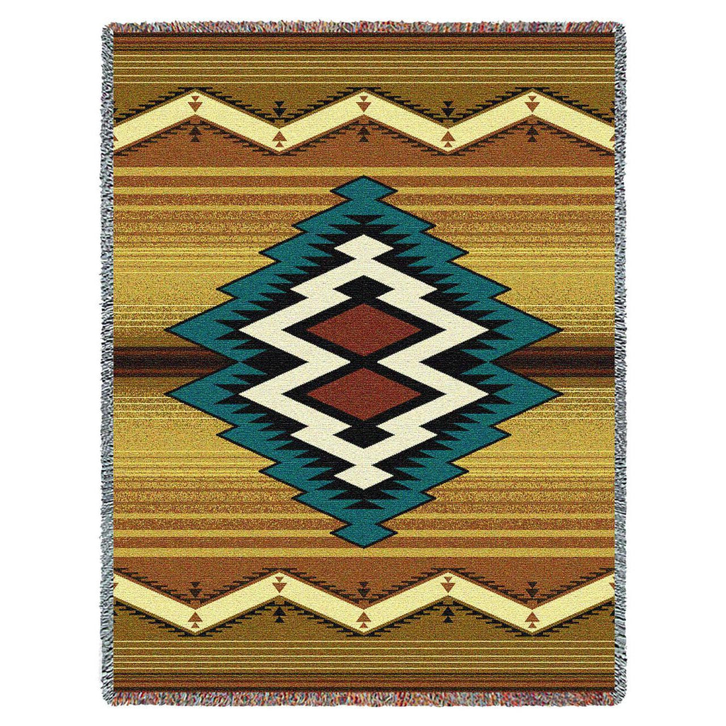 Southwest Maimana Geometric Woven Throw Blanket
