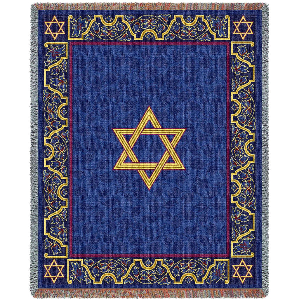 Magen David Woven Throw Blanket -