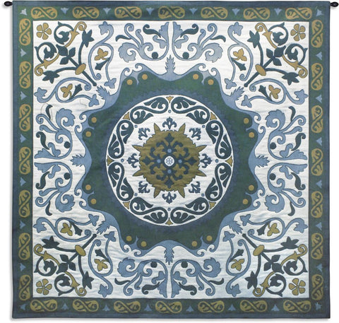 Suzani Indigo Wall Tapestry by Julianna James© |2 Sizes