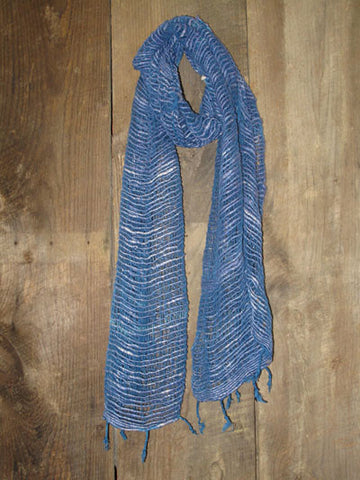 Handwoven Thai Cotton Open Weave Scarf - Allure -