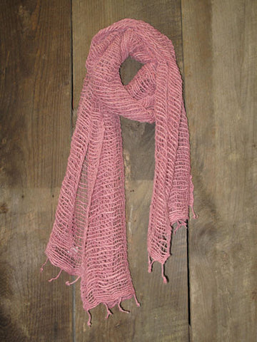 Thai Handwoven Cotton Open Weave Scarf - Polignac -
