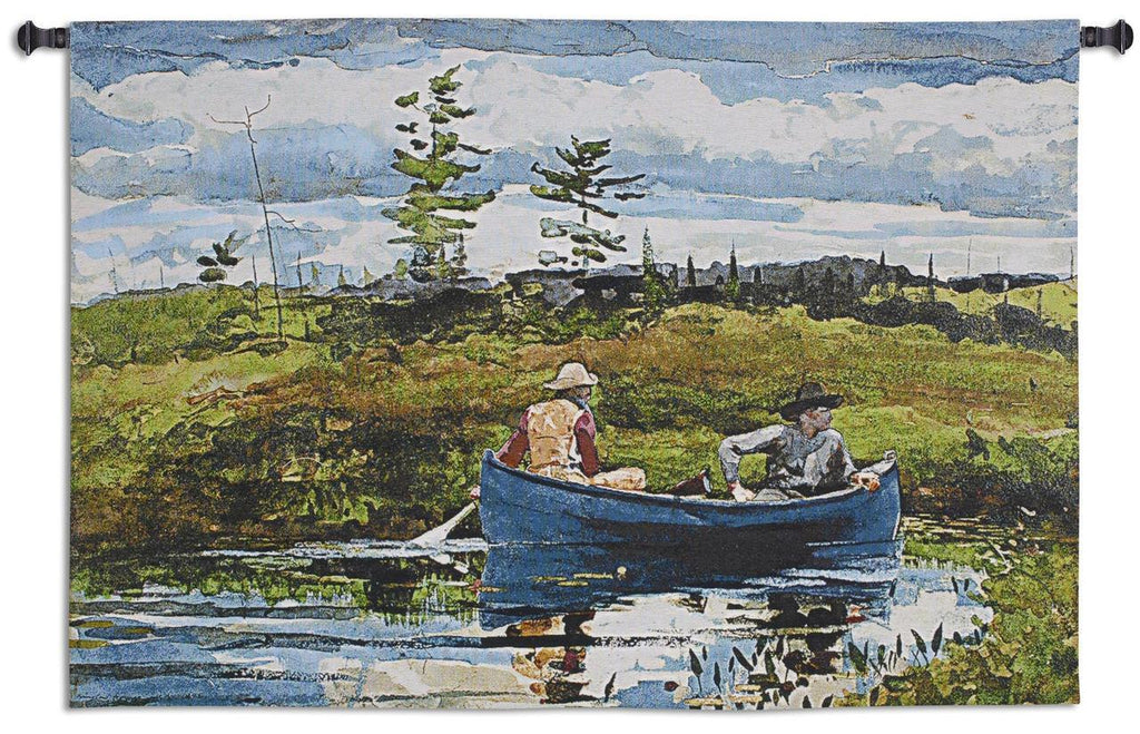 The Blue Boat Wall Tapestry by Winslow Homer©