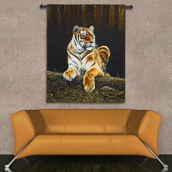 Grandeur Tiger Wall Tapestry by Paul James -   - 2
