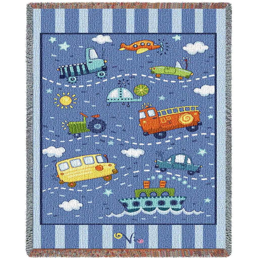 Transportation Toys Small Blanket