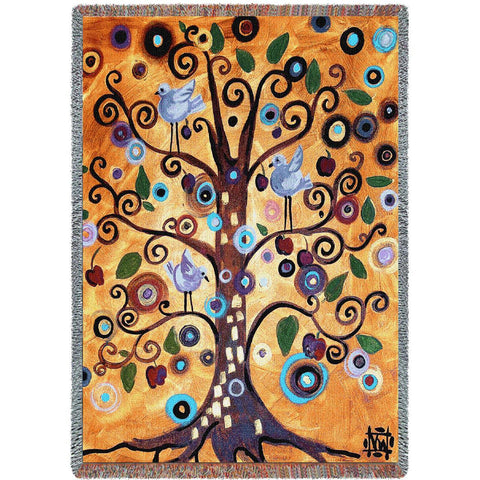 Tree of Life Tapestry Throw by Natasha Wescoat©