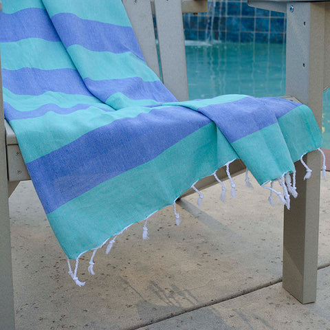 Chaput's Turkish Cotton Towel - Green Blue