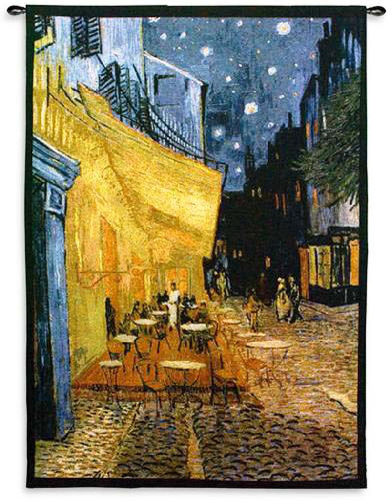 Van Gogh© Cafe Terrace At Night Wall Tapestry – Woven Art & Beyond LLC