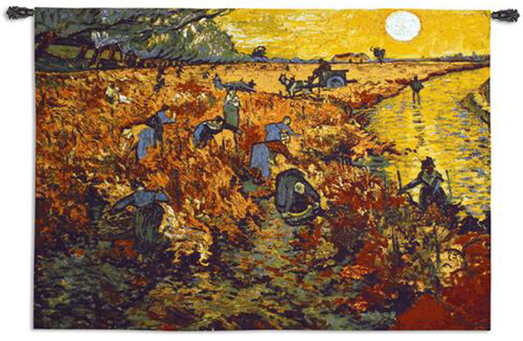Van Gogh© The Red Vineyard Wall Tapestry -