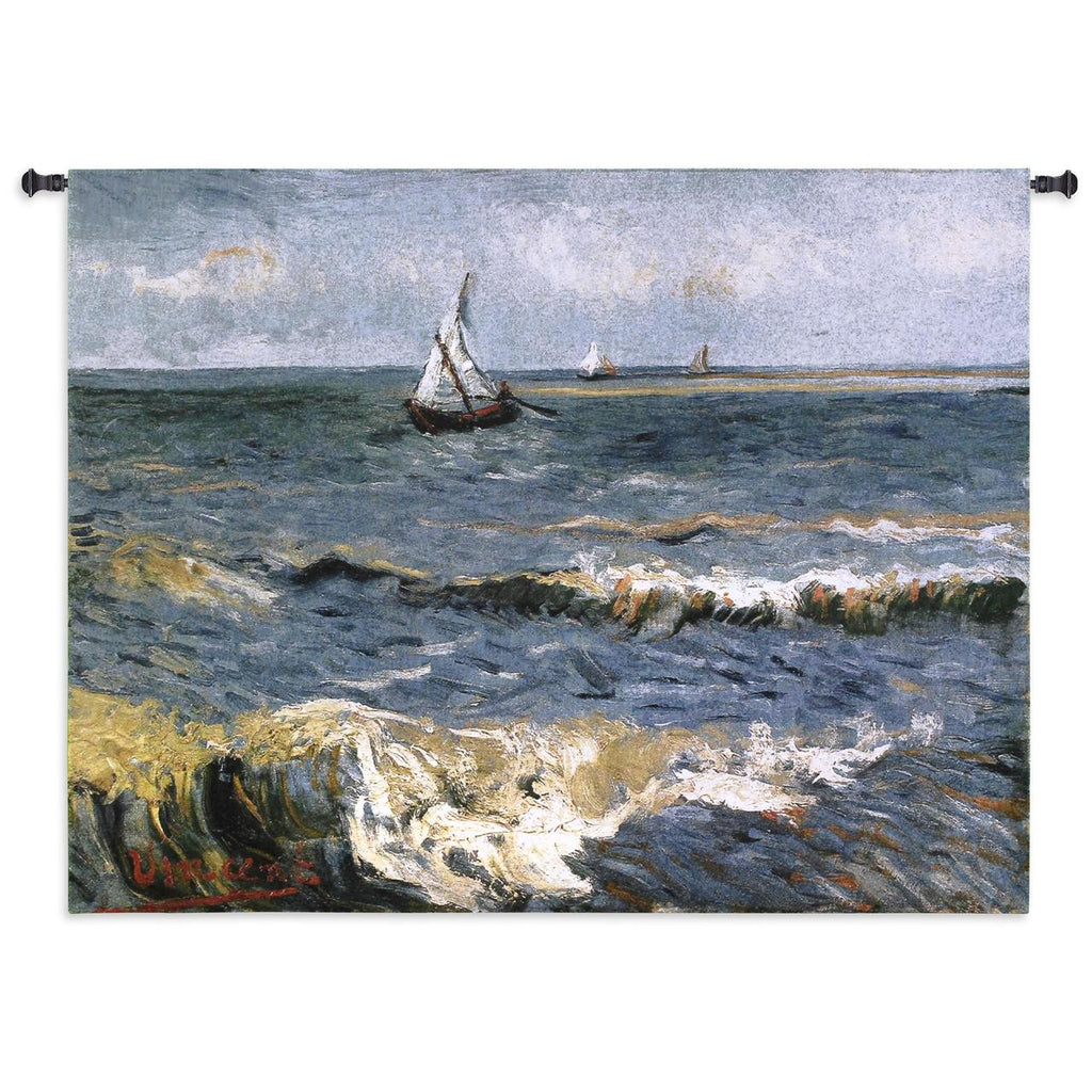 Van Gogh© The Sea at Les Saintes-Maries Del La Mer Wall Tapestry