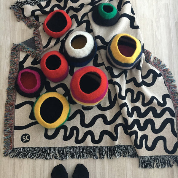 "Custom Woven Cotton Throw Blankets ""On Demand""