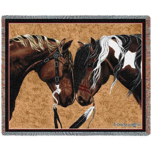 Warrior Truce II Woven Throw Blanket by Diana Beach© -