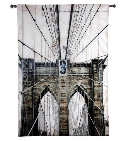 Washington Bridge Wall Tapestry by Nathan Bailey© - Cityscape|3 Sizes