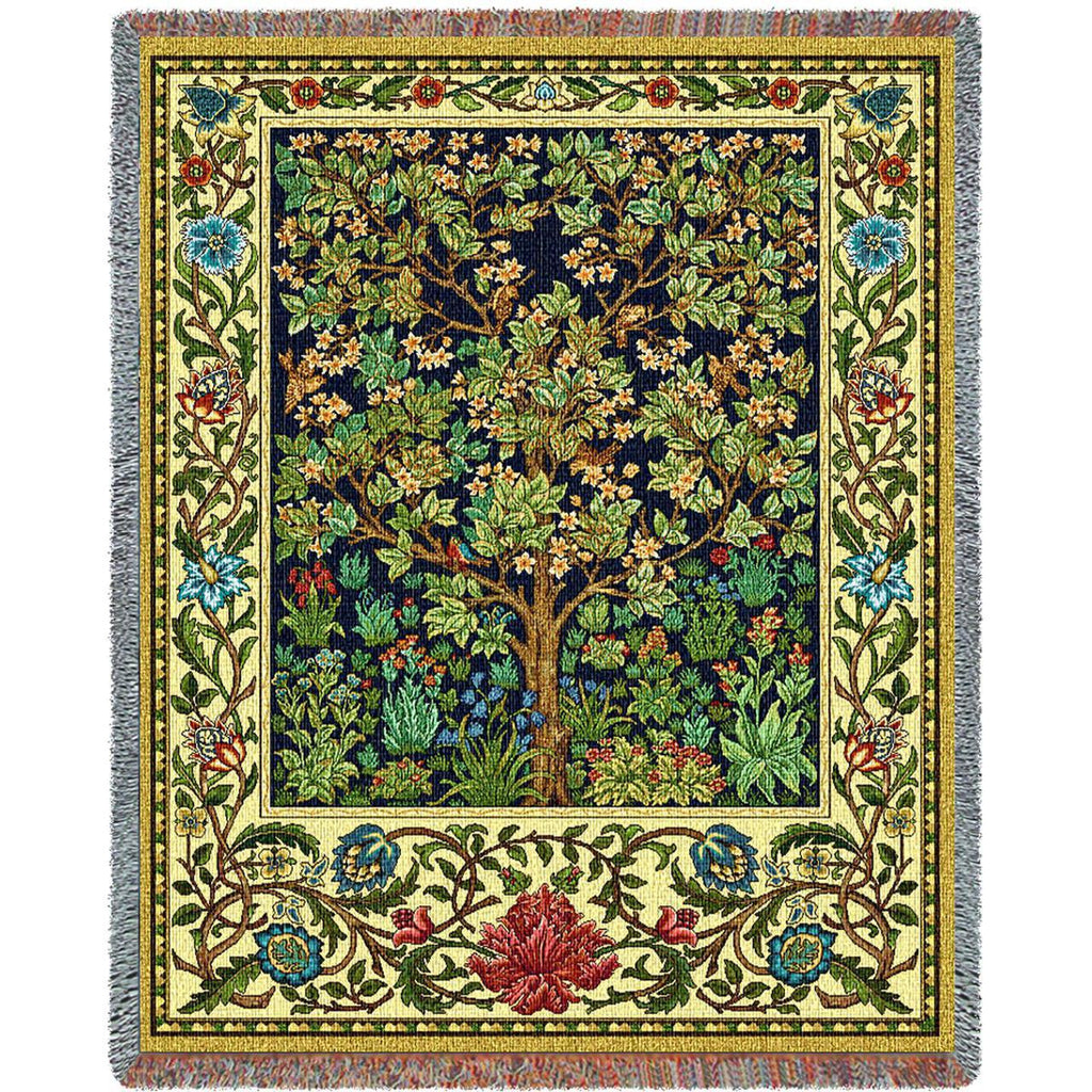 William Morris© Tree of Life Woven Throw Blanket -
