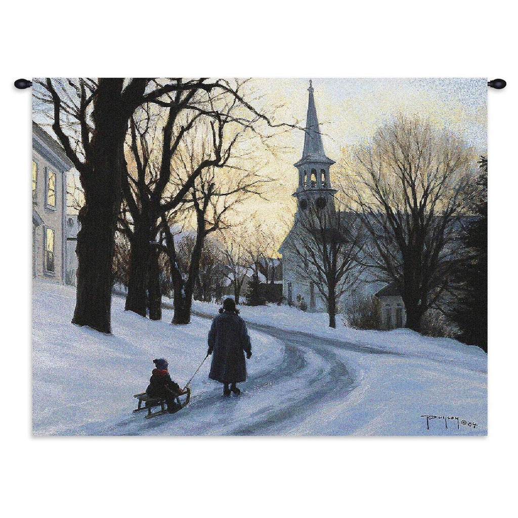 Winter's Eve Wall Tapestry by Robert Duncan© -