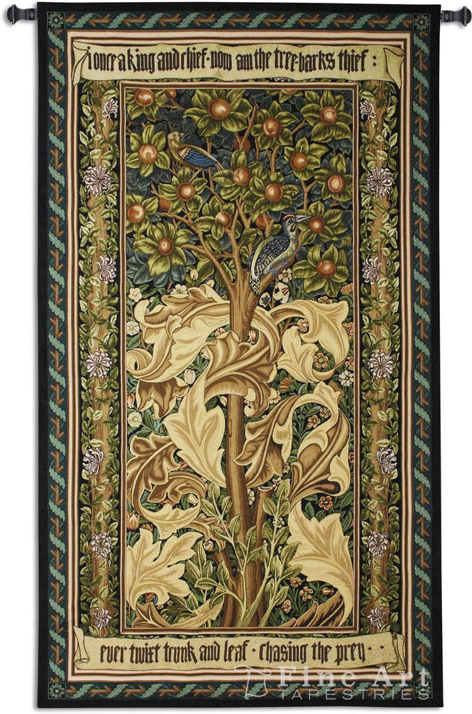 William Morris© Woodpecker Gold Wall Tapestry -
