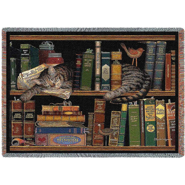 Charles Wysocki© Max In The Stacks Totes Throws Pillows Wall Tapestry