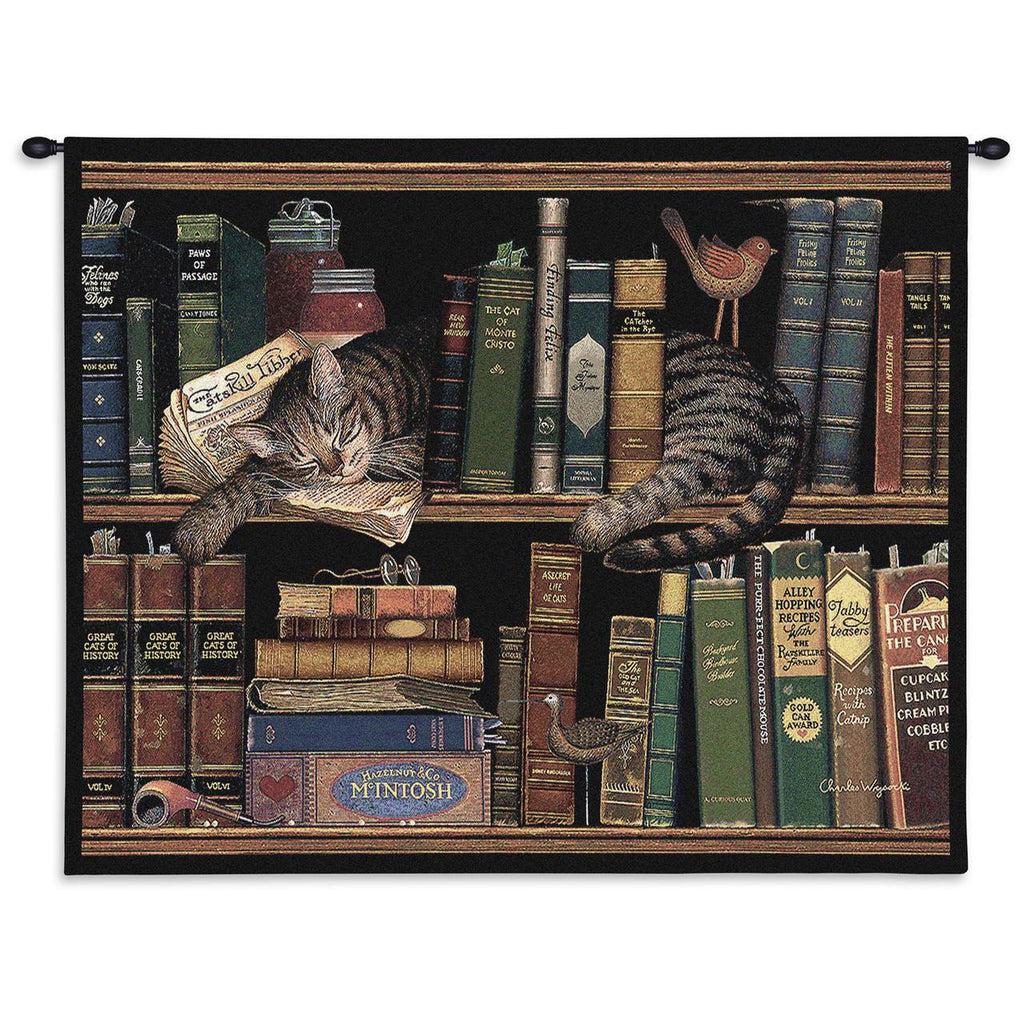 Charles Wysocki© Max In The Stacks Throw|Pillow Cover|Wall Tapestry|Placemats