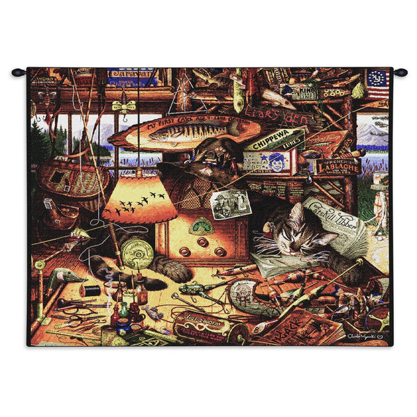 Charles Wysocki© Max In The Adirondacks Totes Throws Pillows Wall Tapestry