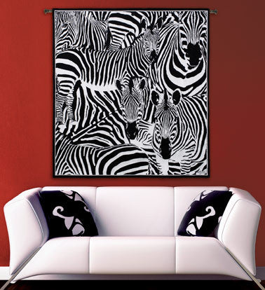 Seeing Stripes Zebra Wall Tapestry w/Boucle -   - 1
