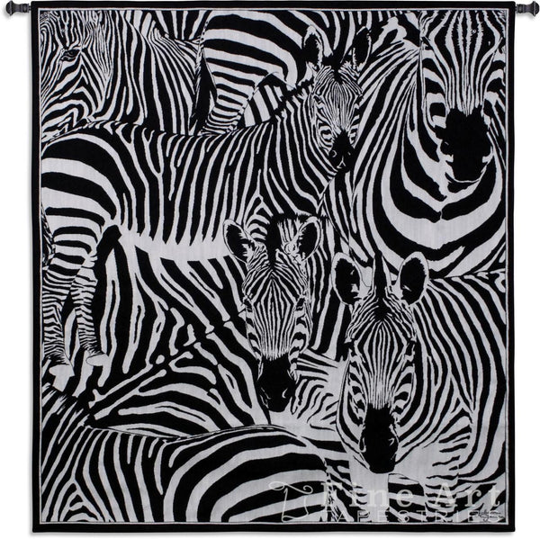 Seeing Stripes Zebra Wall Tapestry w/Boucle -   - 2