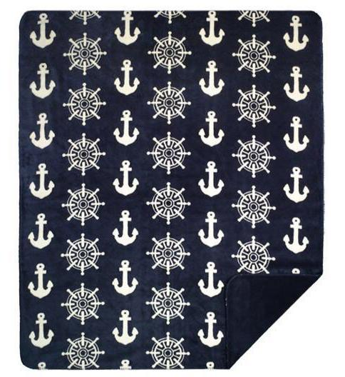 Anchors and Wheels Denali Microplush™ Throw Blanket