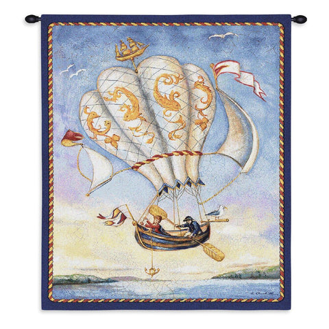 Airship Wall Tapestry by Alexandra Churchill©