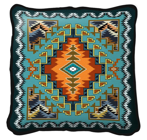 Southwest Painted Hills Sky Tapestry Pillow Cover