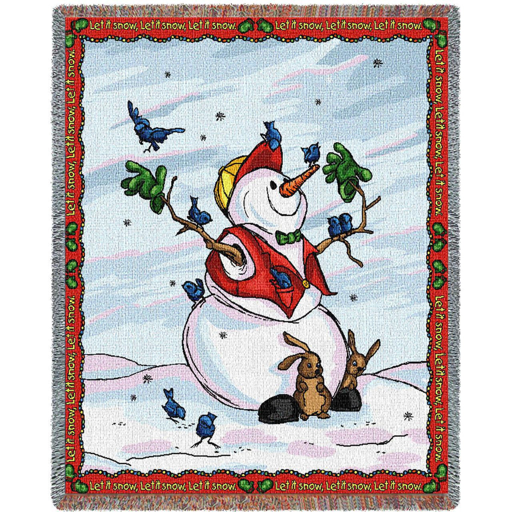 Let It Snow Woven Throw Blanket -