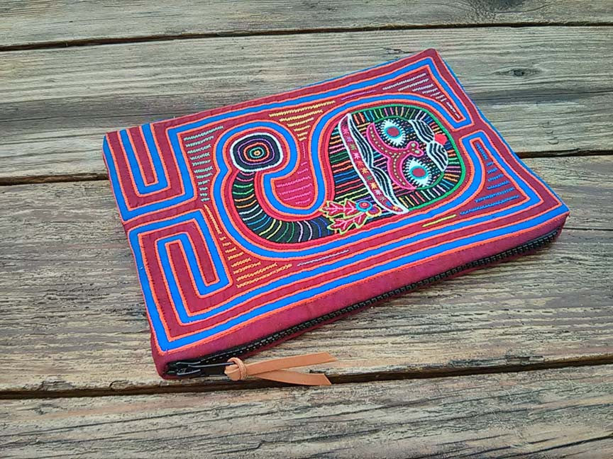 "MOLA Clutch Bag ""Cat"" - One-of-A-Kind -"