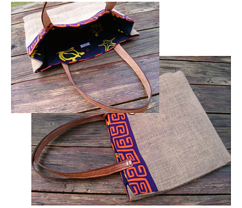 MOLA La Burlap Tote - One-of-A-Kind -   - 1