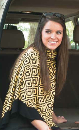 Bamboo Black and Gold Ikat Scarf-Shawl-Cardigan 3 in 1 by Papillon -   - 1