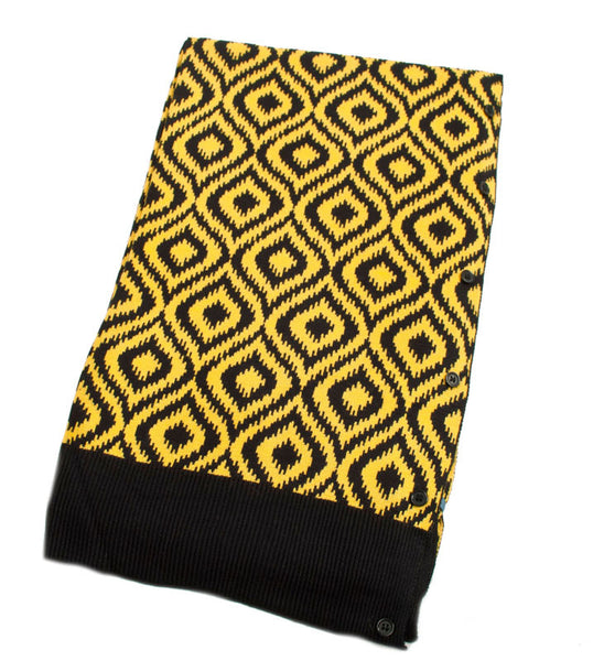 Bamboo Black and Gold Ikat Scarf-Shawl-Cardigan 3 in 1 by Papillon -   - 2