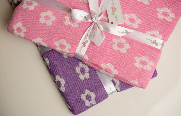 Bamboo Flower Baby Blankets|2 Colors -   - 4