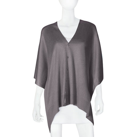 Bamboo Grey Scarf-Shawl-Cardigan 3 in 1 by Papillon -   - 1