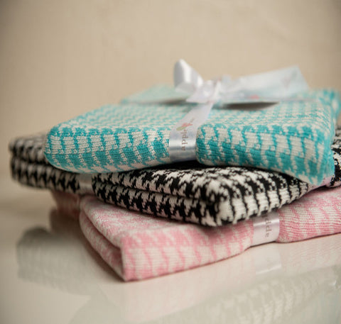 Bamboo Houndstooth Baby Blankets -   - 1