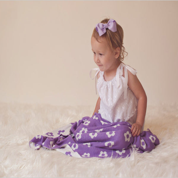 Bamboo Flower Baby Blankets|2 Colors -   - 1
