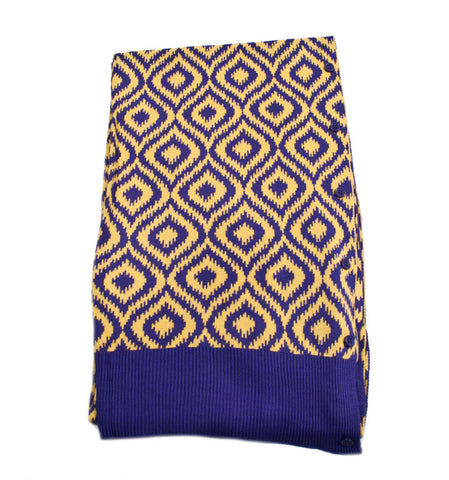Bamboo Purple and Gold Ikat Scarf-Shawl-Cardigan 3 in 1 by Papillon -   - 1